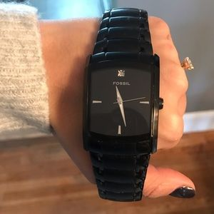Men's fossil watch has some wear